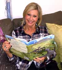 Olivia Newton John reads 'Little Brave Heart Tells His Story'